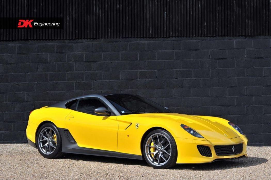 Ferrari 599 GTO cars yellow 2011 wallpaper