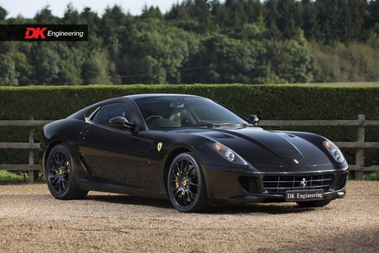 Ferrari 599 GTB Fiorano cars black wallpaper