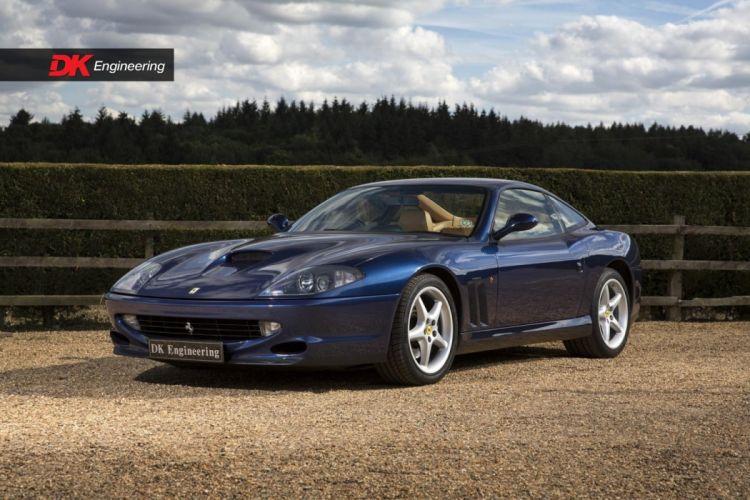 Ferrari 550 Maranello cars blue 1999 RHD wallpaper
