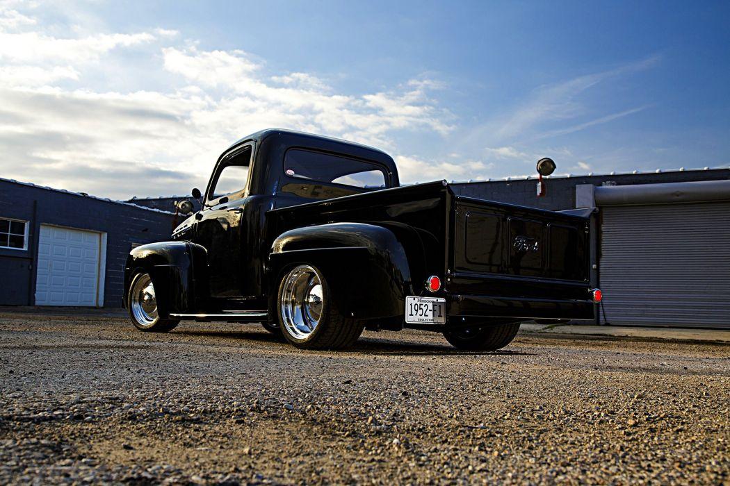 1952 Ford F-1 Pickup truck black wallpaper