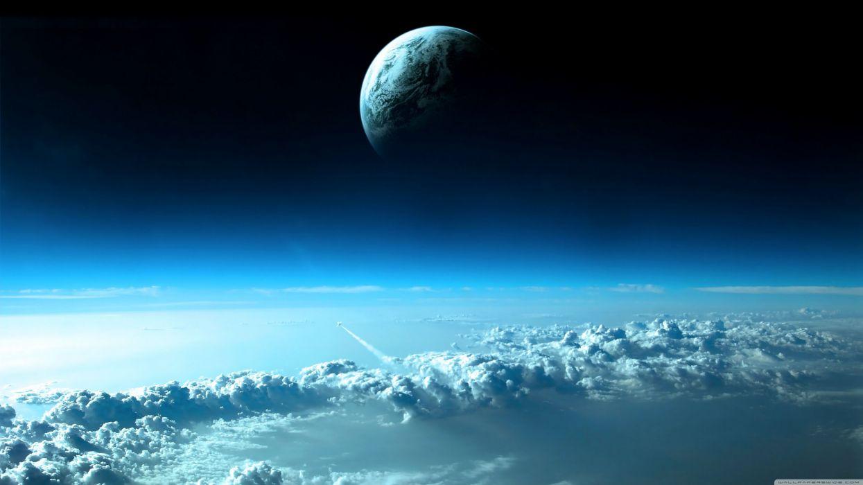 luna tierra espacio naturaleza wallpaper