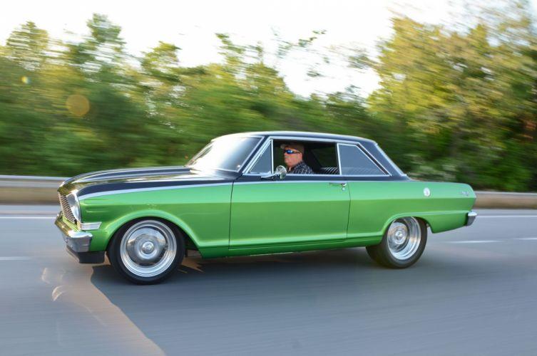 1962 Chevy nova (II) cars green modified wallpaper
