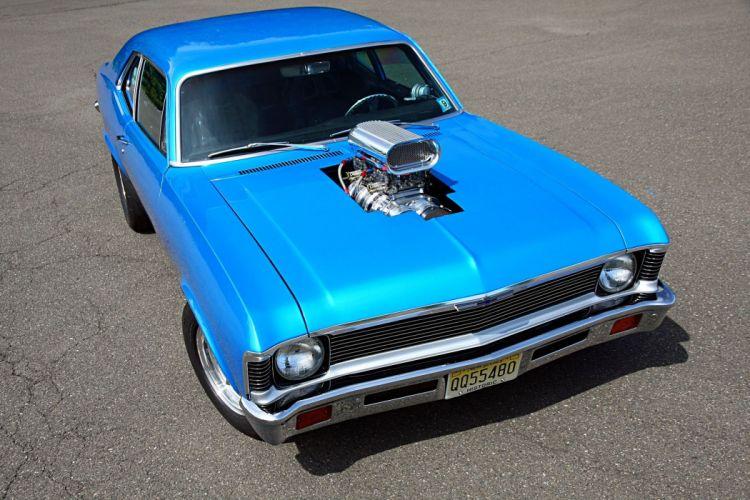 1972 chevy Nova Street Machine cars blue wallpaper