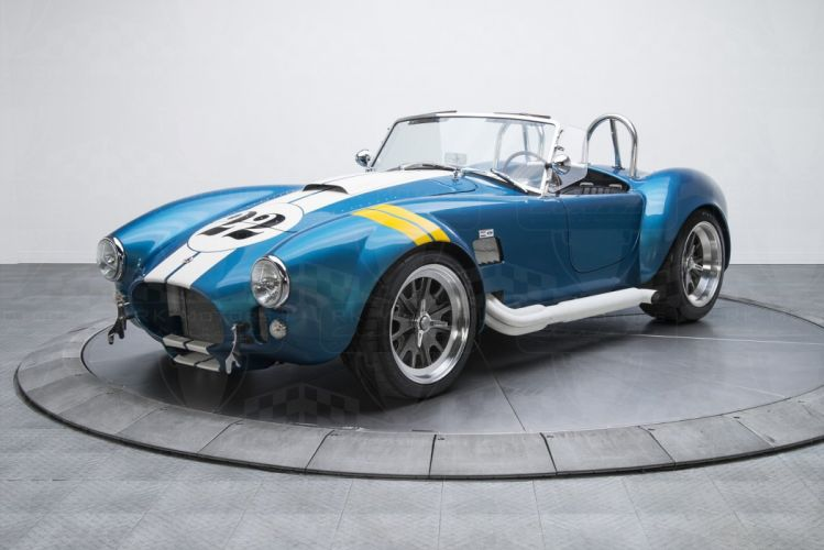 1965 Shelby Cobra cars blue Backdraft Racing wallpaper