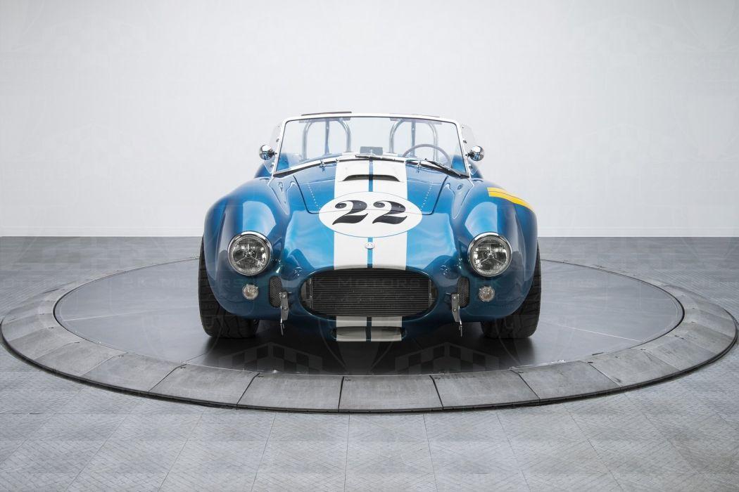1965 Shelby Cobra cars blue Backdraft Racing wallpaper