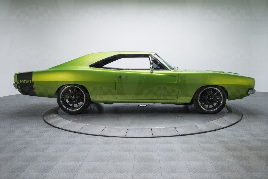 1968 Dodge Charger cars green modified Pro Touring wallpaper