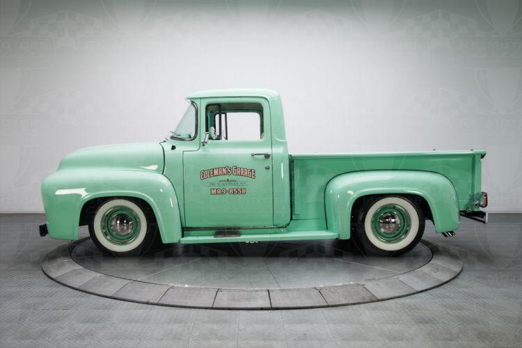 1956 Ford F100 Pickup Truck green wallpaper