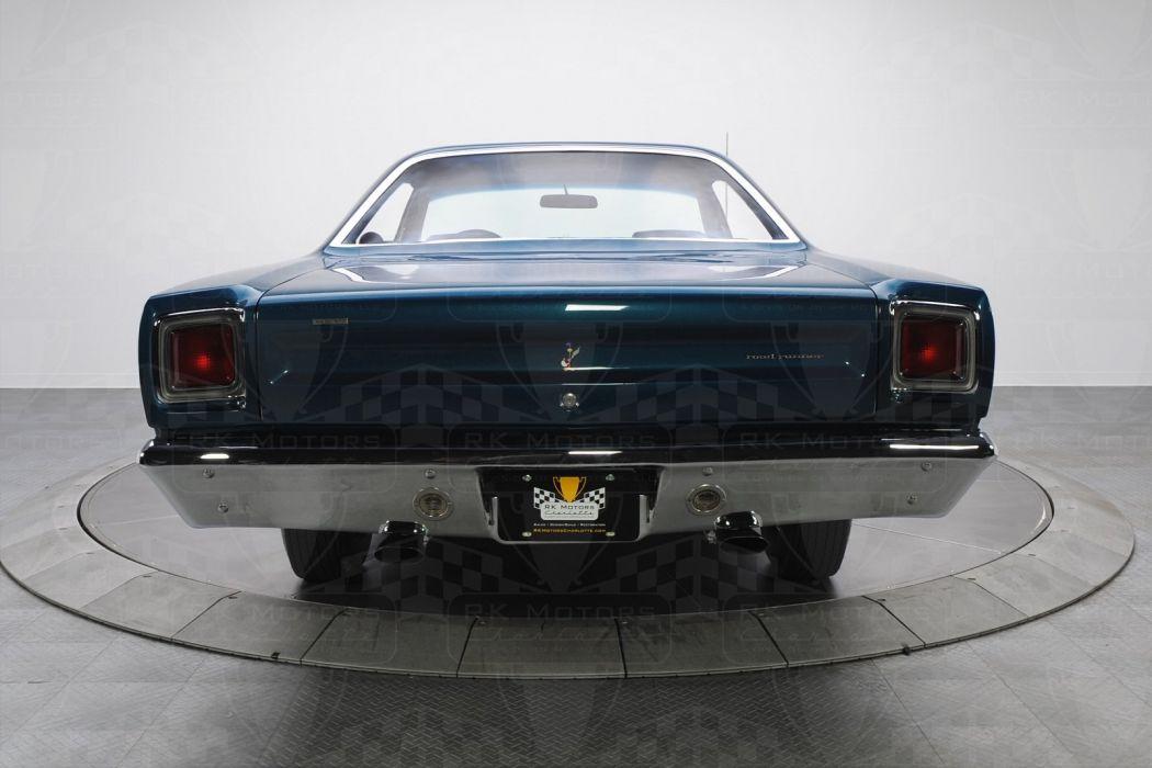 1969 Plymouth Road Runner cars HEMI 426 blue wallpaper
