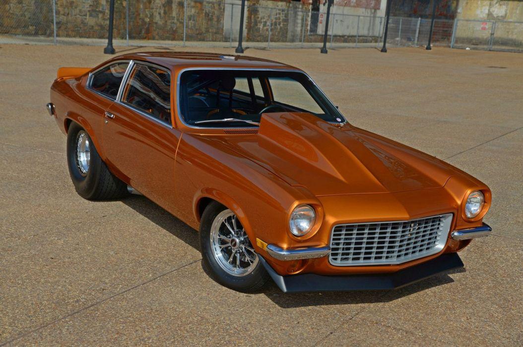 1971 Vega chevy Chevrolet cars Gold Pro Street wallpaper