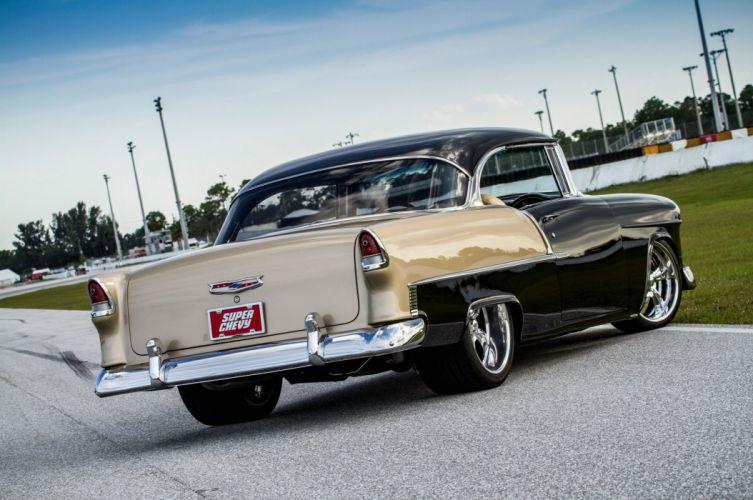 1955 Chevy 2010 Black Gold cars wallpaper