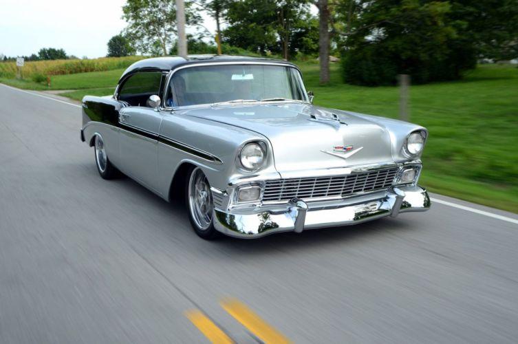 1956 Chevy Bel Air Resto mod cars wallpaper