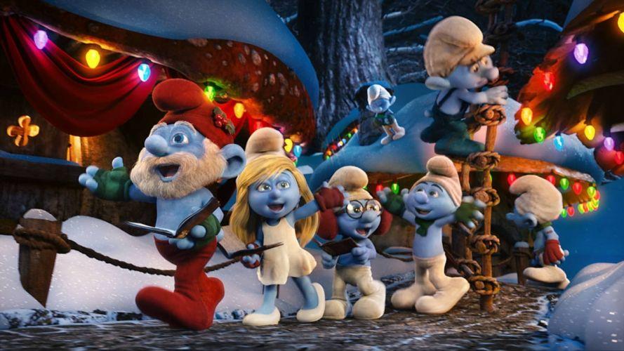 smurfs-christmas-smurfs-hd wallpaper