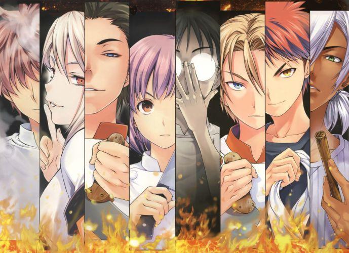 Shokugeki no Souma anime series characters wallpaper
