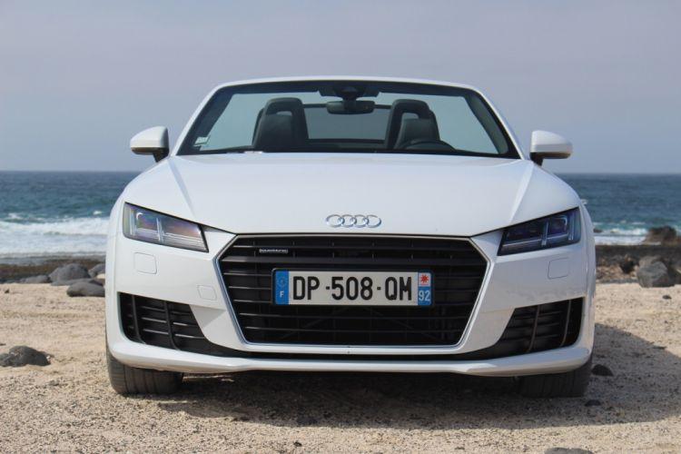 Audi (TT) Roadster (2 0) TFSI quattro (8S) cars white 2014 wallpaper