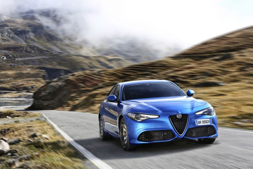 Alfa Romeo Giulia Veloce (Q4) (952) cars blue sedan 2016 wallpaper