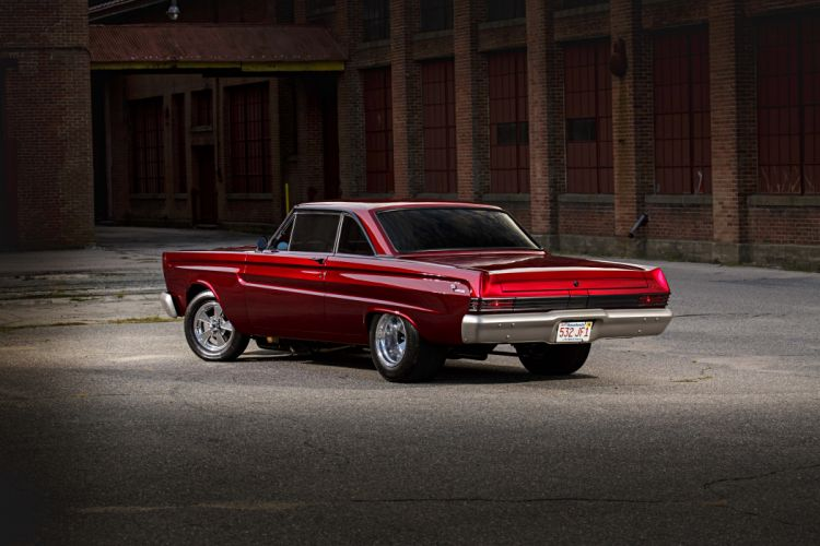 1965 Comet Cyclone Mercury cars red drag wallpaper