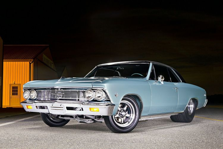 1966 Chevelle chevy Pro Street cars blue wallpaper