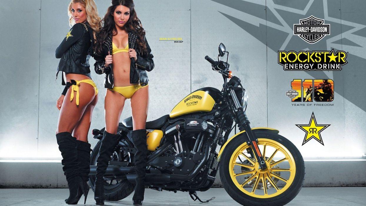 Rockstar Energy Harley Davidson Girls wallpaper