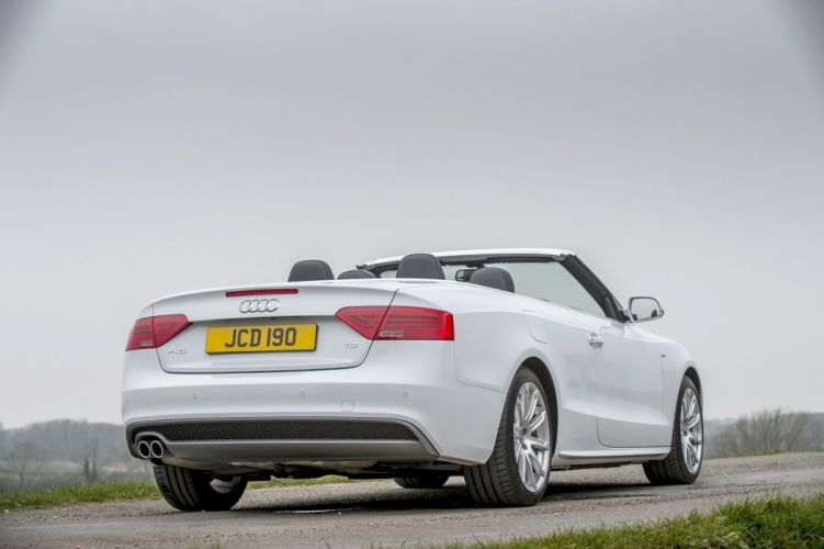 Audi (A5) TDI quattro S-line Cabriolet UK-spec cars white 2011 wallpaper