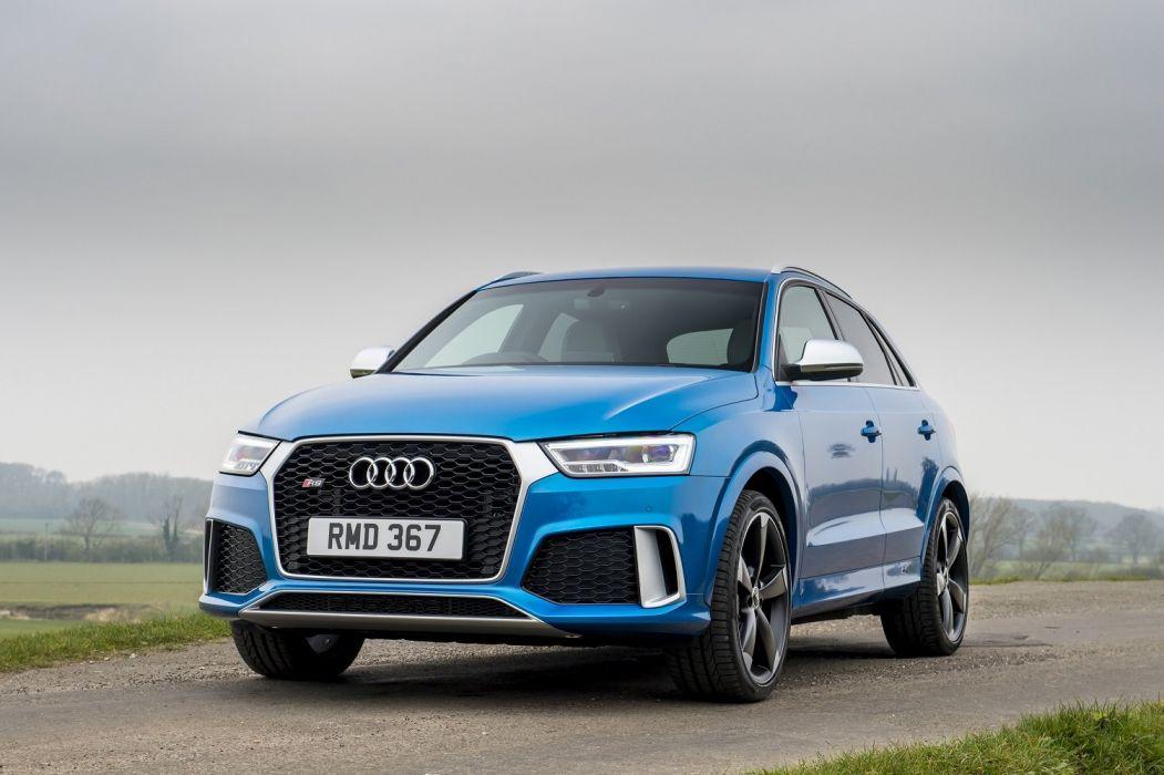 Audi RS-Q3 performance UK-spec (8U) cars suv blue 2015 wallpaper