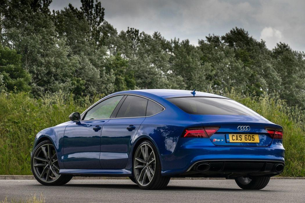 Audi RS7 Sportback performance UK-spec cars blue 2016 wallpaper