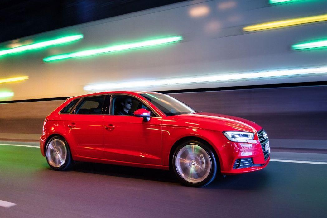 Audi (A3) Sportback TFSI AU-spec (8V) cars red 2016 wallpaper