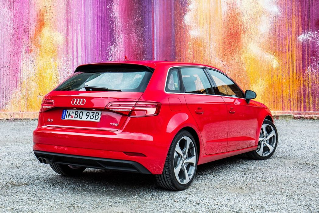 Audi (A3) Sportback TFSI AU-spec (8V) cars red 2016 wallpaper