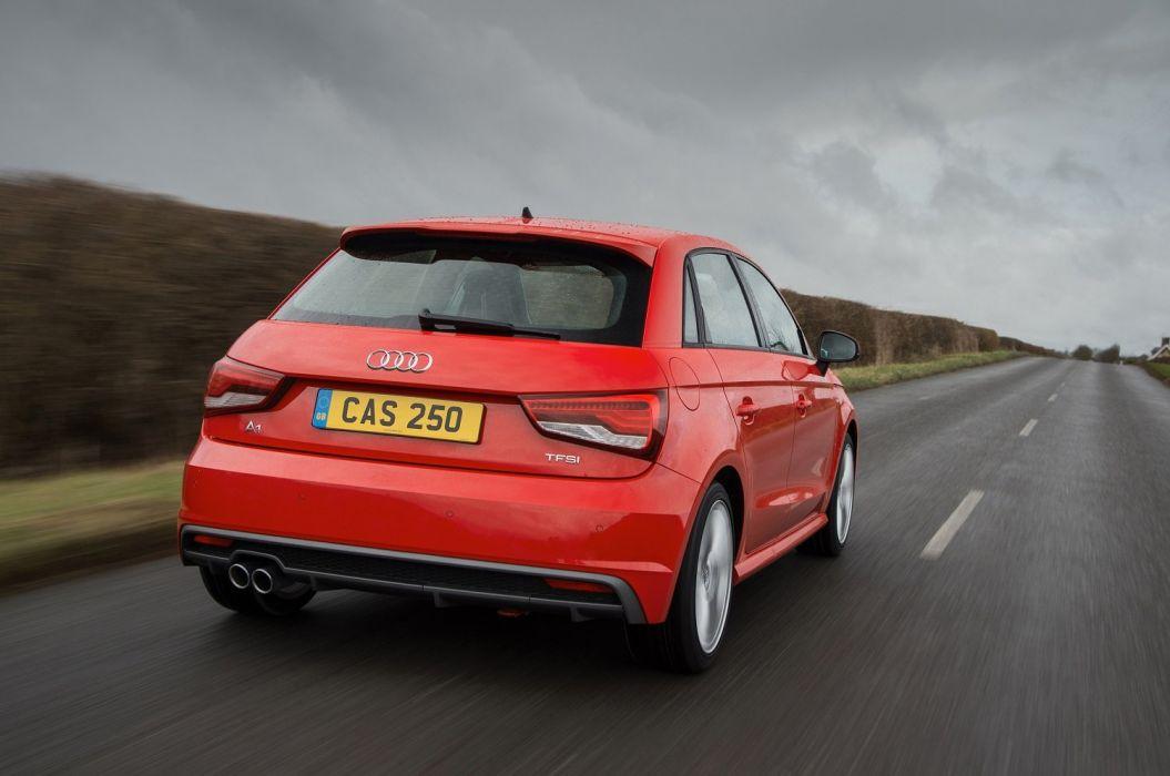 Audi (A1) Sportback TFSI S-line UK-spec (8X) cars red 2014 wallpaper