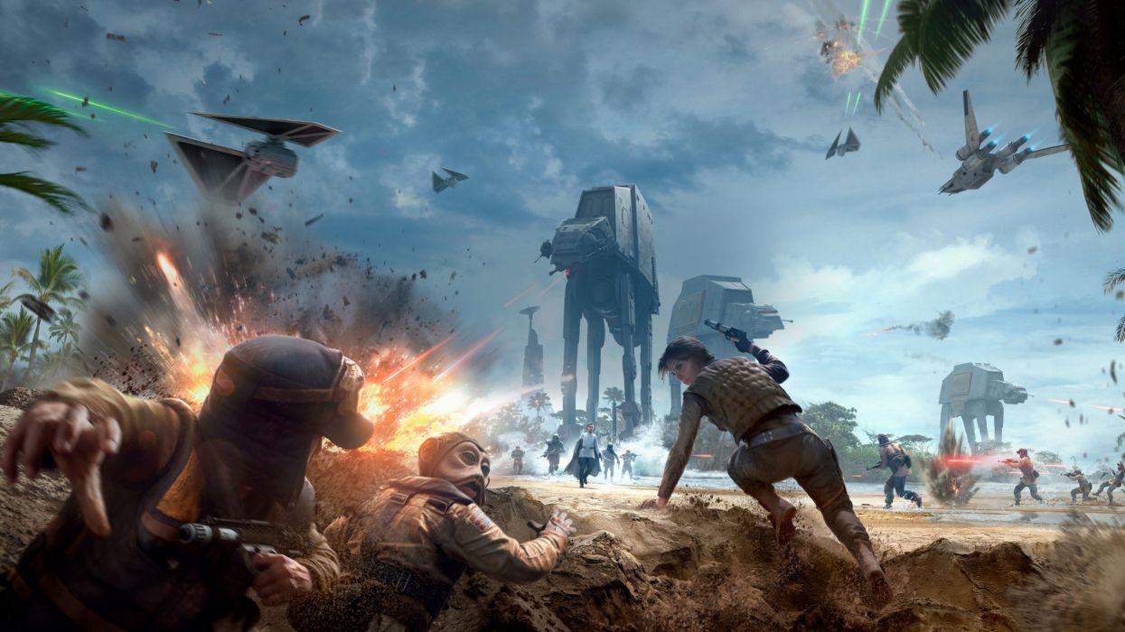 Star Wars Battlefront Rogue One Scarif 4k 5120x2880 Wallpaper 5120x2880 1052951 Wallpaperup