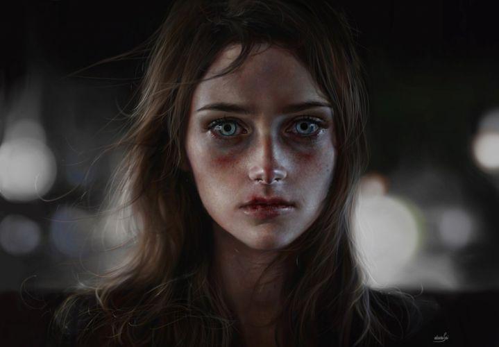 elena-sai- Digital 2D Illustration portrait realism artstation art original wallpaper