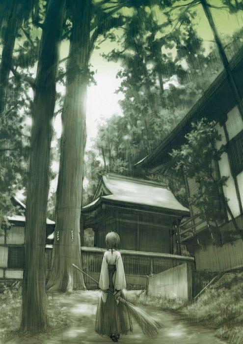 Yosuga no Sora Series Visual Novel Akira Amatsume Character wallpaper