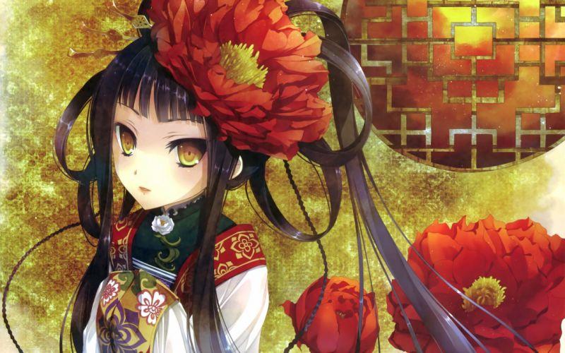 anime Anime Girls kimono Original Characters wallpaper