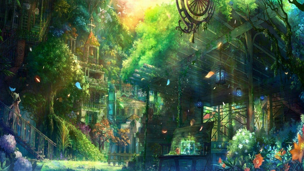 flower anime fantasy Art wallpaper