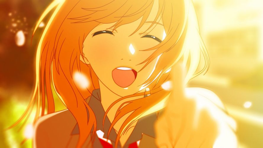 anime Anime Girls Blonde Miyazono Kaori School Uniform Shigatsu Wa Kimi No Uso smile wallpaper