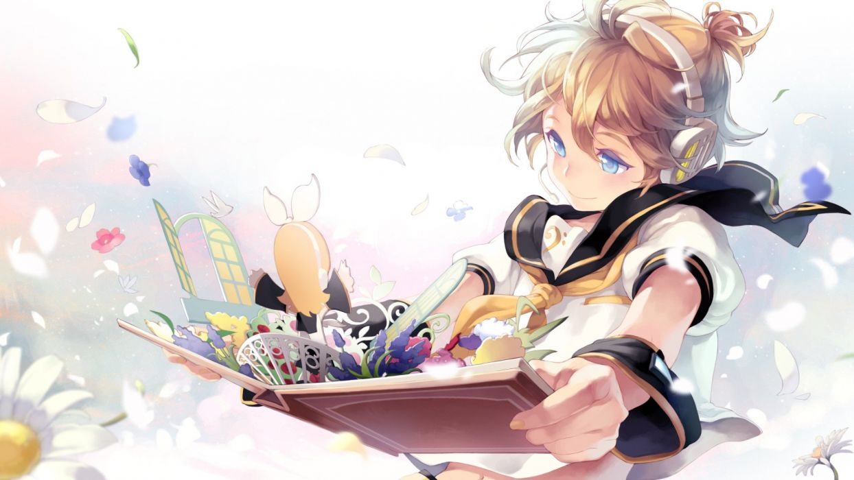 Len Kagamine Rin Kagamine Vocaloid anime wallpaper