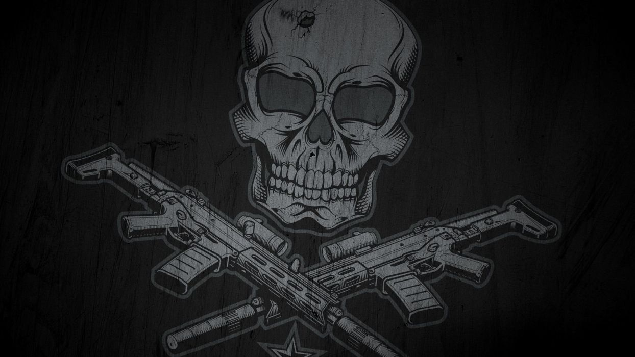 Skull and Guns wallpaper