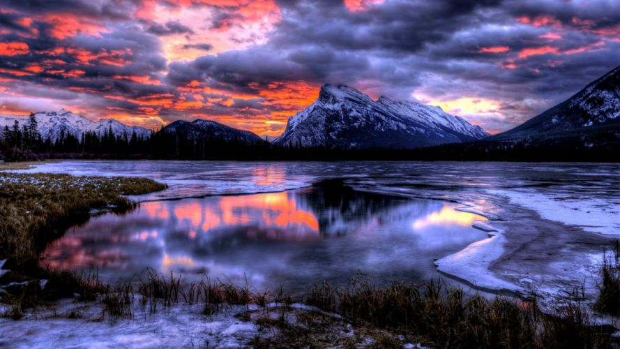 Winter Mountains wallpaper