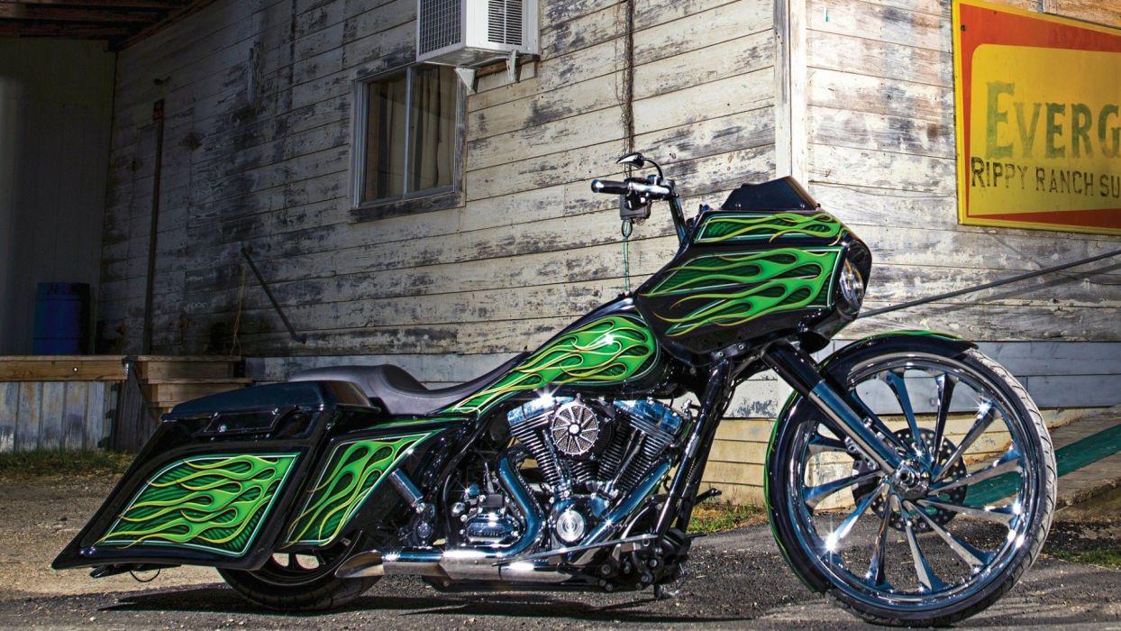 Custom Harley-Davidson Road Glide wallpaper