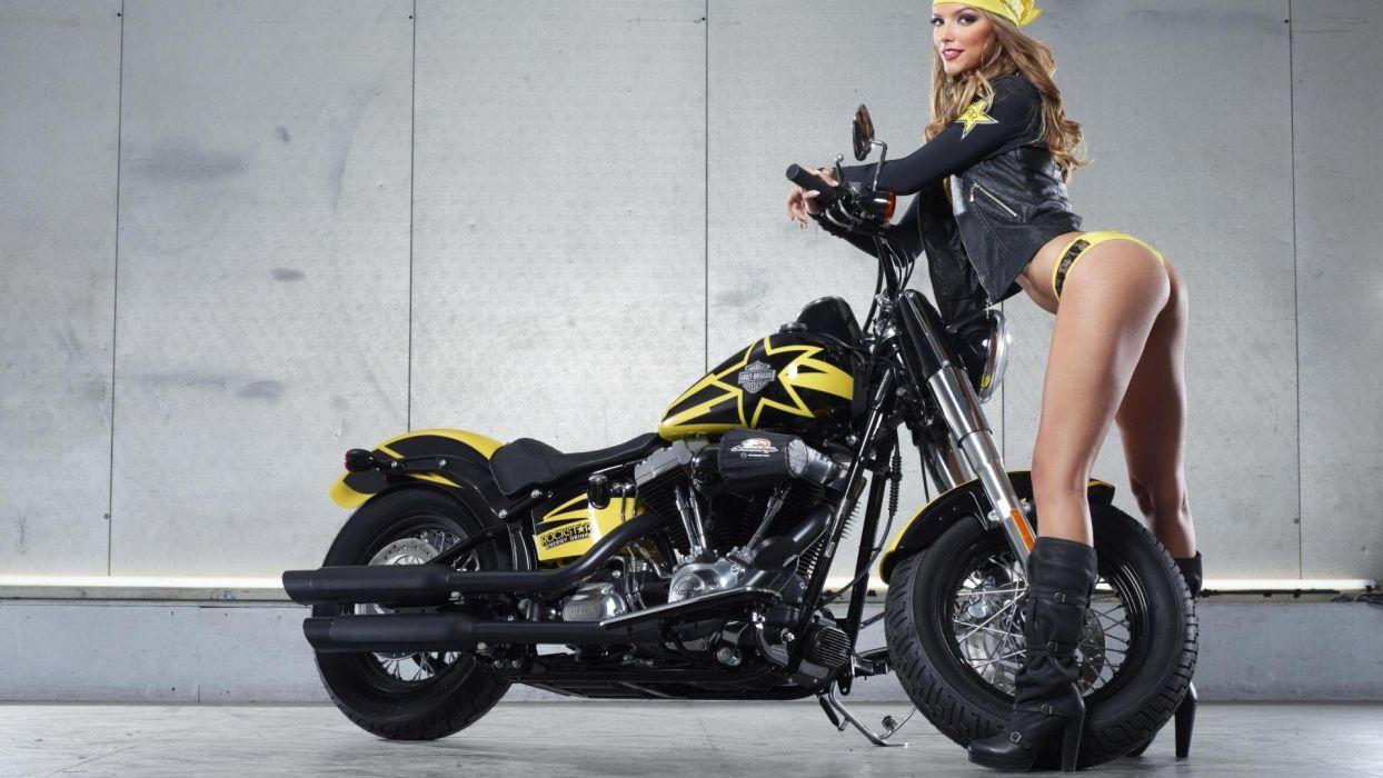Rockstar Energy Harley Davidson Girl wallpaper