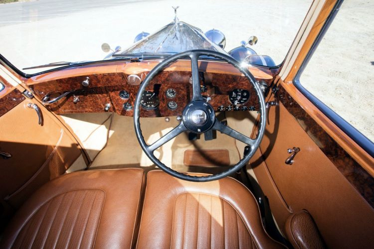 Rolls Royce Wraith Sports Saloon blue cars retro 1938 wallpaper