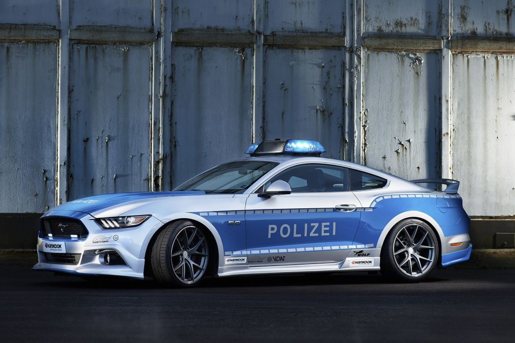 Ford Mustang Wolf Wide 5 0 Polizei Concept 2016 Wallpaper