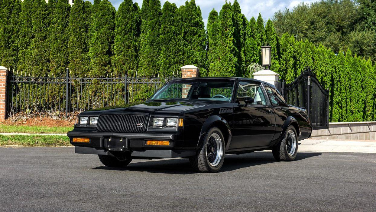 1987 BUICK GNX Turbocharged cars black wallpaper
