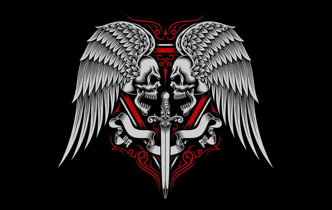 Warriors Heart Red wallpaper