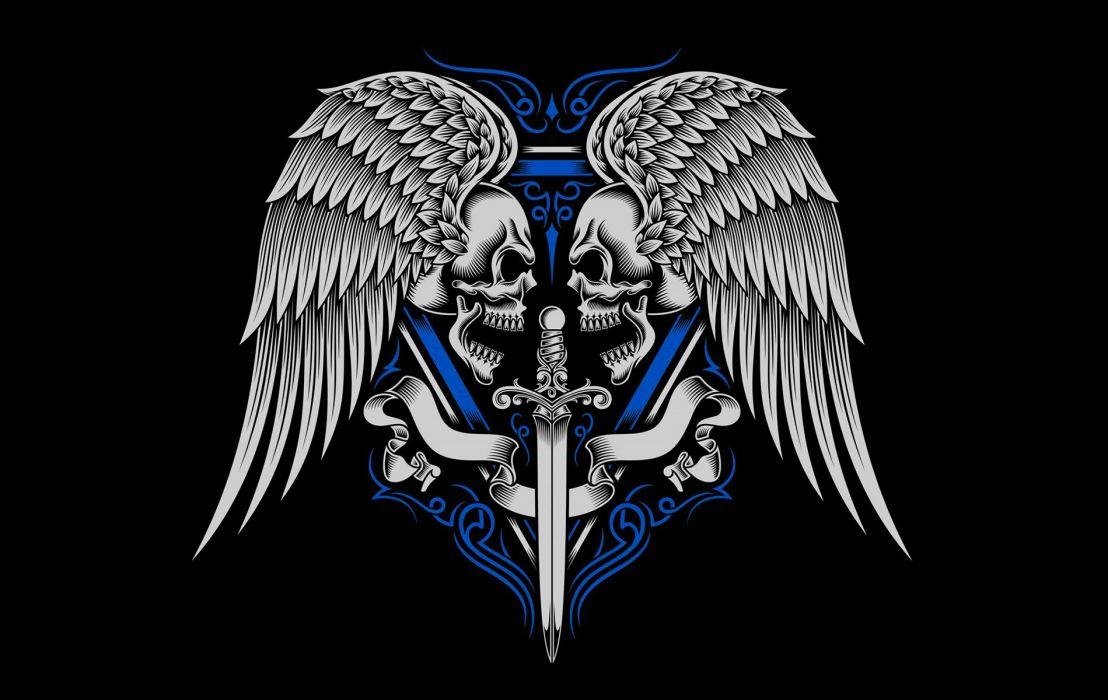 Warriors Heart Blue wallpaper