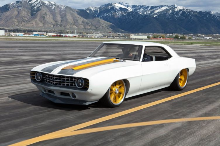 1969 Chevrolet Camaro white modified wallpaper