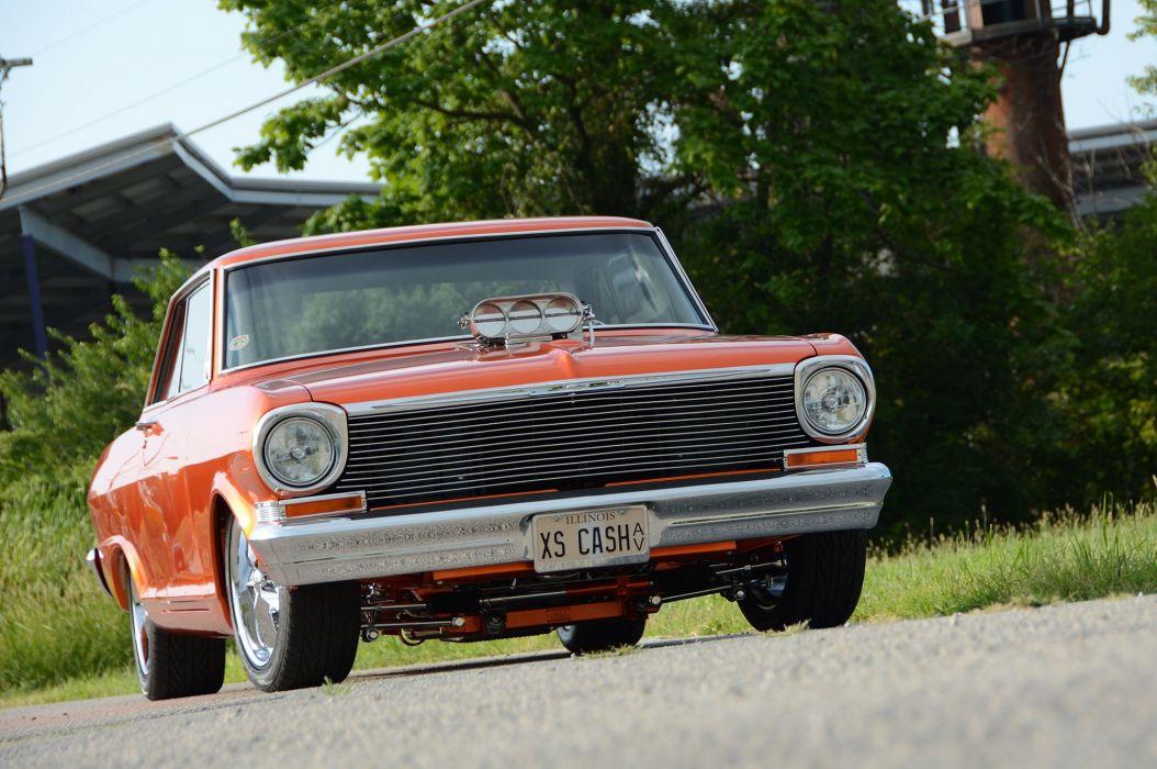 1963 Chevrolet Nova modified cars orange wallpaper