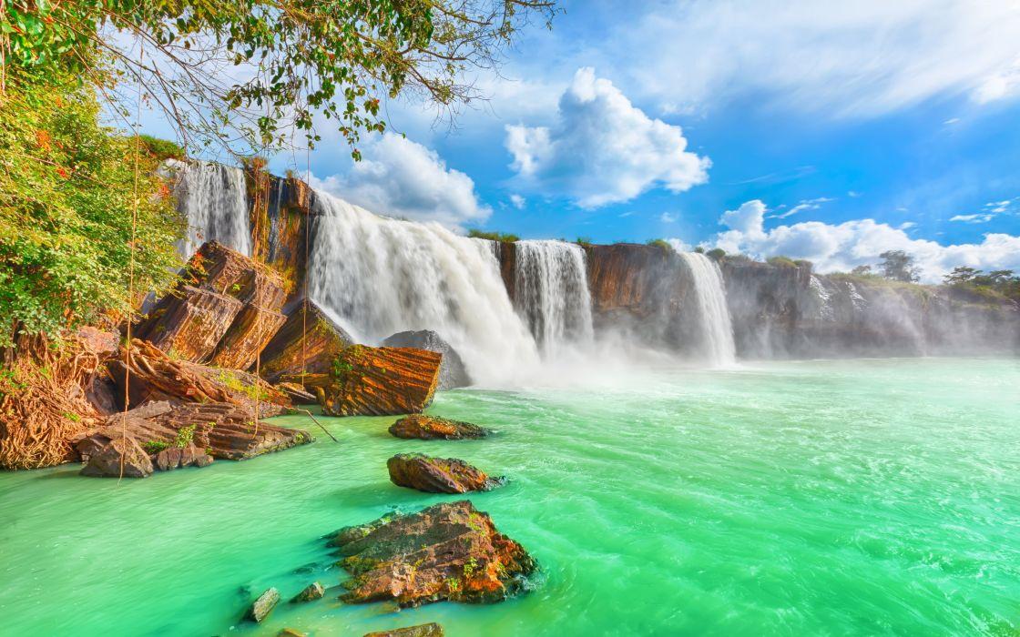 rio cataratas aguas verdes naturaleza wallpaper