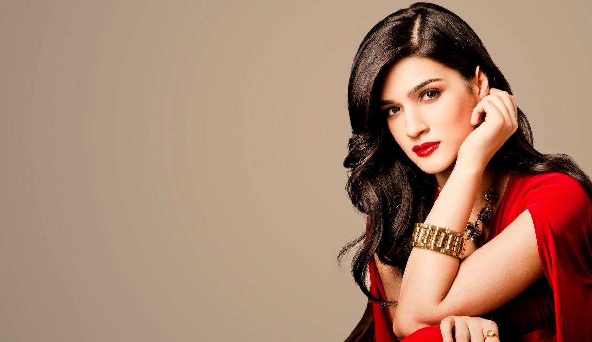Kriti Sanon bollywood actress model girl beautiful brunette pretty cute beauty sexy hot pose face eyes hair lips smile figure indian  wallpaper