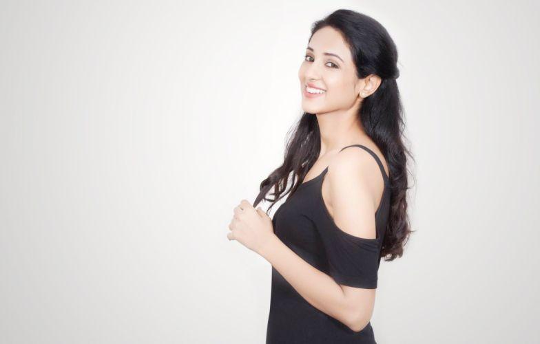 Priya Shri bollywood actress model girl beautiful brunette pretty cute beauty sexy hot pose face eyes hair lips smile figure indian wallpaper