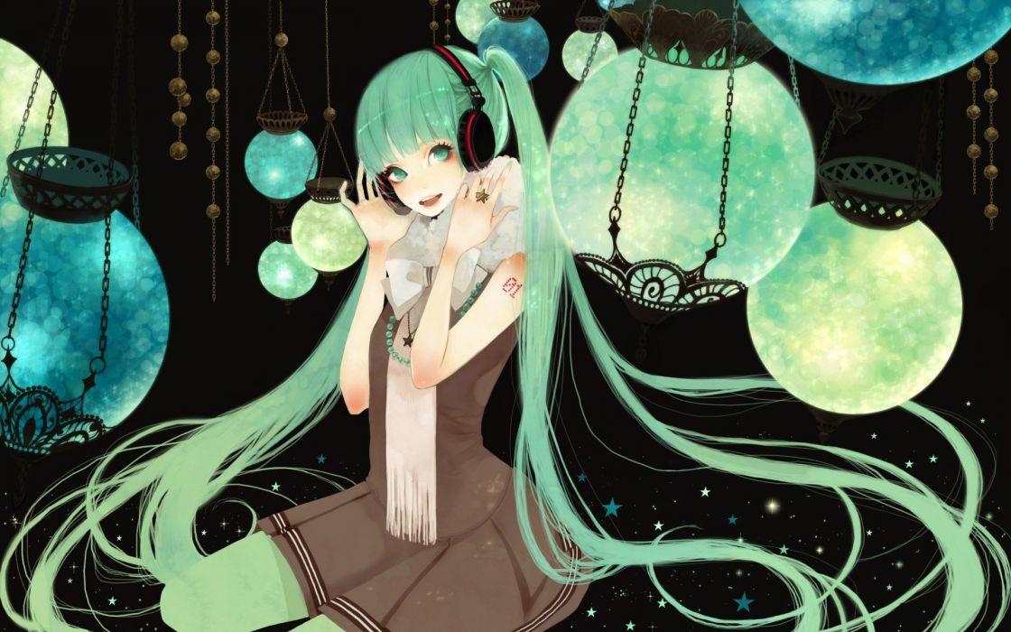anime girl smile Hatsune Miku vocaloid wallpaper